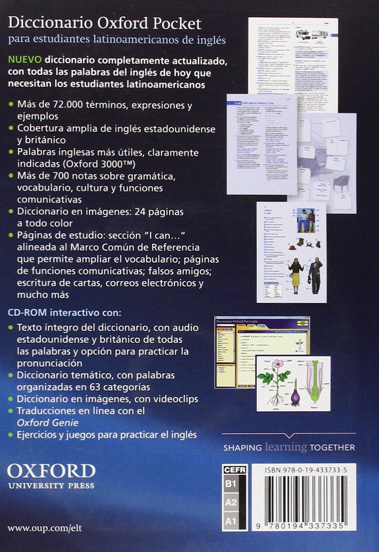 Diccionario Oxford Pocket para estudiantes latinoamericanos de ...