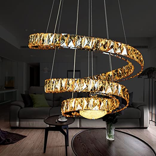 Modern simple crystals metal pendant lights chandelier high quality modern simple crystals metal pendant lights chandelier high quality elegant stylish creative curved chic chandeliers ceiling aloadofball Image collections