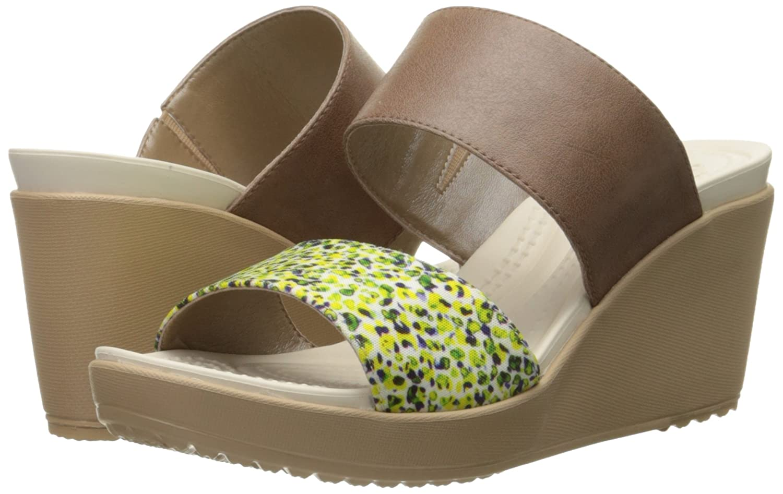 536521636ab0 crocs Women s Leigh II 2 Strap Graphic Wedge Sandal  Amazon.com.au  Fashion