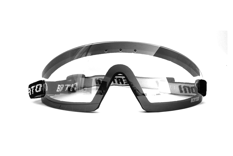 Clip Ottica da Vista Bertoni Occhiali Sportivi da Vista Antivento Avvolgenti a Mascherina con Lenti Antifog per Moto MTB Sci Parapendio Skydive by AF79