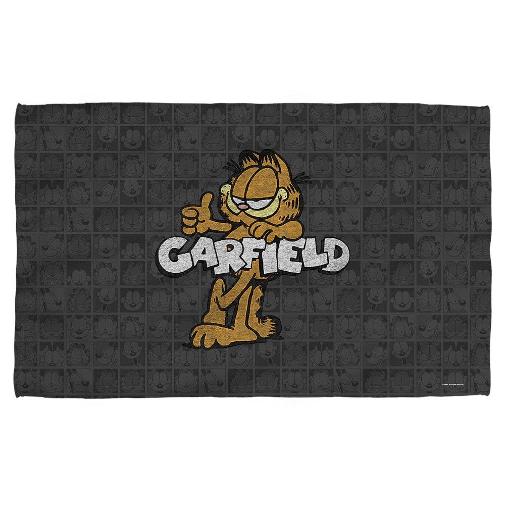 Serviette De Plage Garfield.Garfield Retro Serviette De Plage Blanc 36 X 58 Amazon Fr