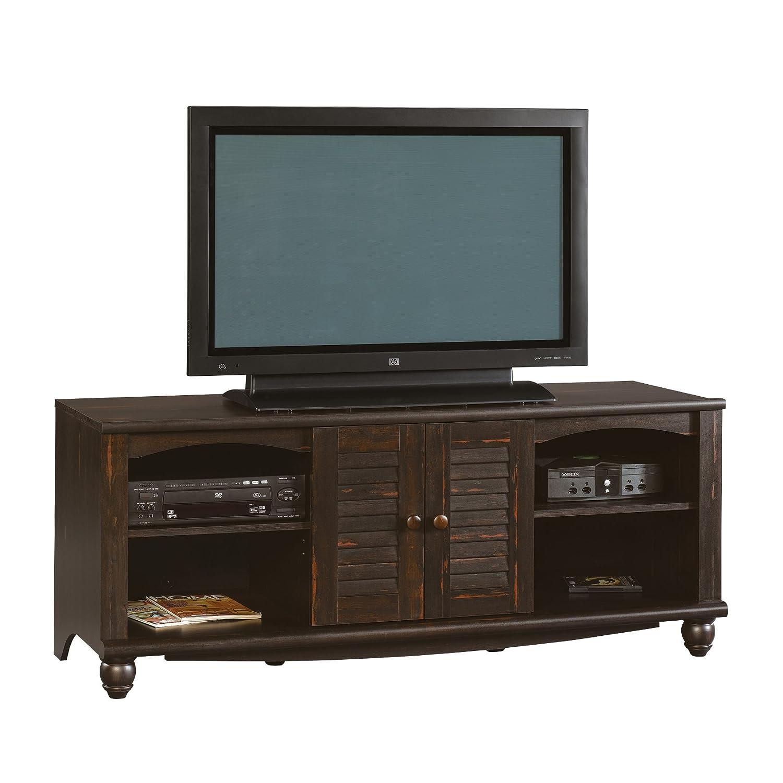 Sauder Tv Cabinet Amazoncom Sauder Harbor View Entertainment Credenza Antiqued