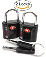 TSA Approved Luggage Locks, Ultra-Secure Dimple Key Travel Locks with Zinc Alloy Body, 2 and 4 Packs