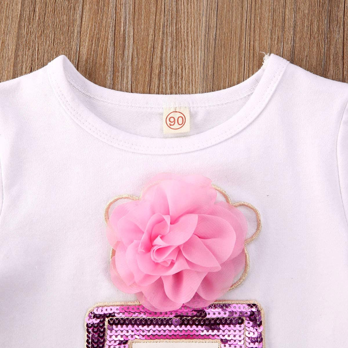Toddler Baby Kids Girl Clothes Floral Tops Short Sleeve T-Shirt Mini Button Leather Skirt Summer Spring Outfits 2Pcs Set