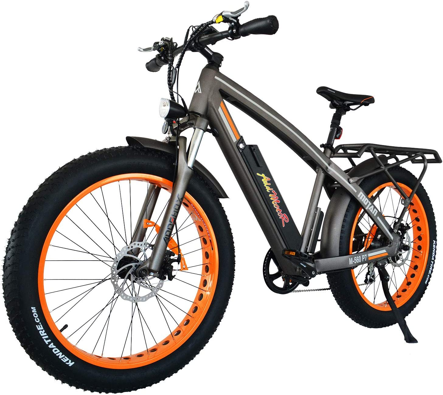 """Amazon.com : Addmotor MOTAN Electric Bicycles Electric Mountain Bikes, 750W  48V 12.8AH Removable Battery, 26"""" Fat Tire M-560 P7 E-Bike Adults : Sports  & Outdoors"""