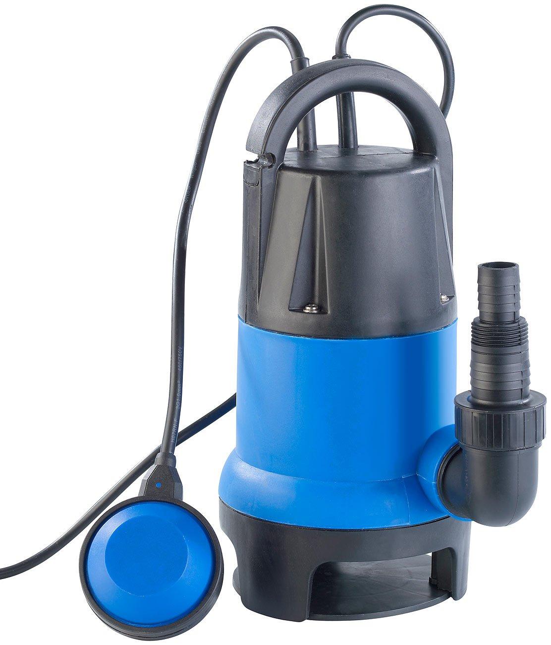 AGT Wasserpumpe: Tauchpumpe 400W mit Schwimmschalter - fü r Schmutzwasser geeignet (Schmutzwasserpumpe)
