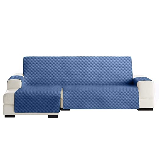 Jarrous Funda Cubre Chaise Longue Práctica Modelo Guadalaviar, Color Azul, Medida Brazo Izquierdo – 240cm (Mirándolo de Frente)