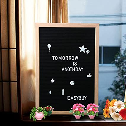 Amazon Com Felt Letter Board 12x18 Inches Wooden Framed Chalkboard