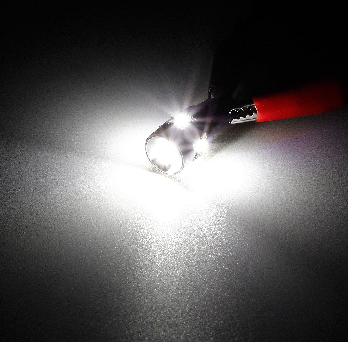 Partsam 2x Geniune Cree XB-D High Power T10 921 912 168 30W 800lm Xenon Super Bright White Car LED Bulbs Reverse Backup light Lamps