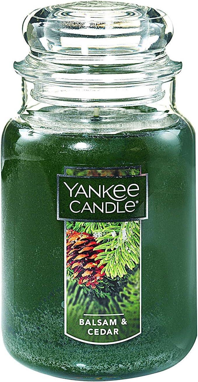 Yankee Candle Balsam & Cedar Large Jar Candle,Fresh Scent