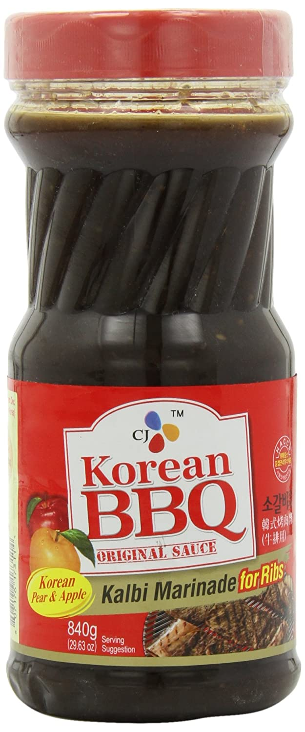 CJ Korean BBQ Sauce, Kalbi, 29.63-Ounce Bottles (Pack of 4)