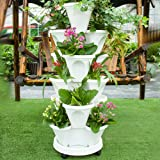 5 Tier Planter Stackable, FOME 5 Tier Strawberry