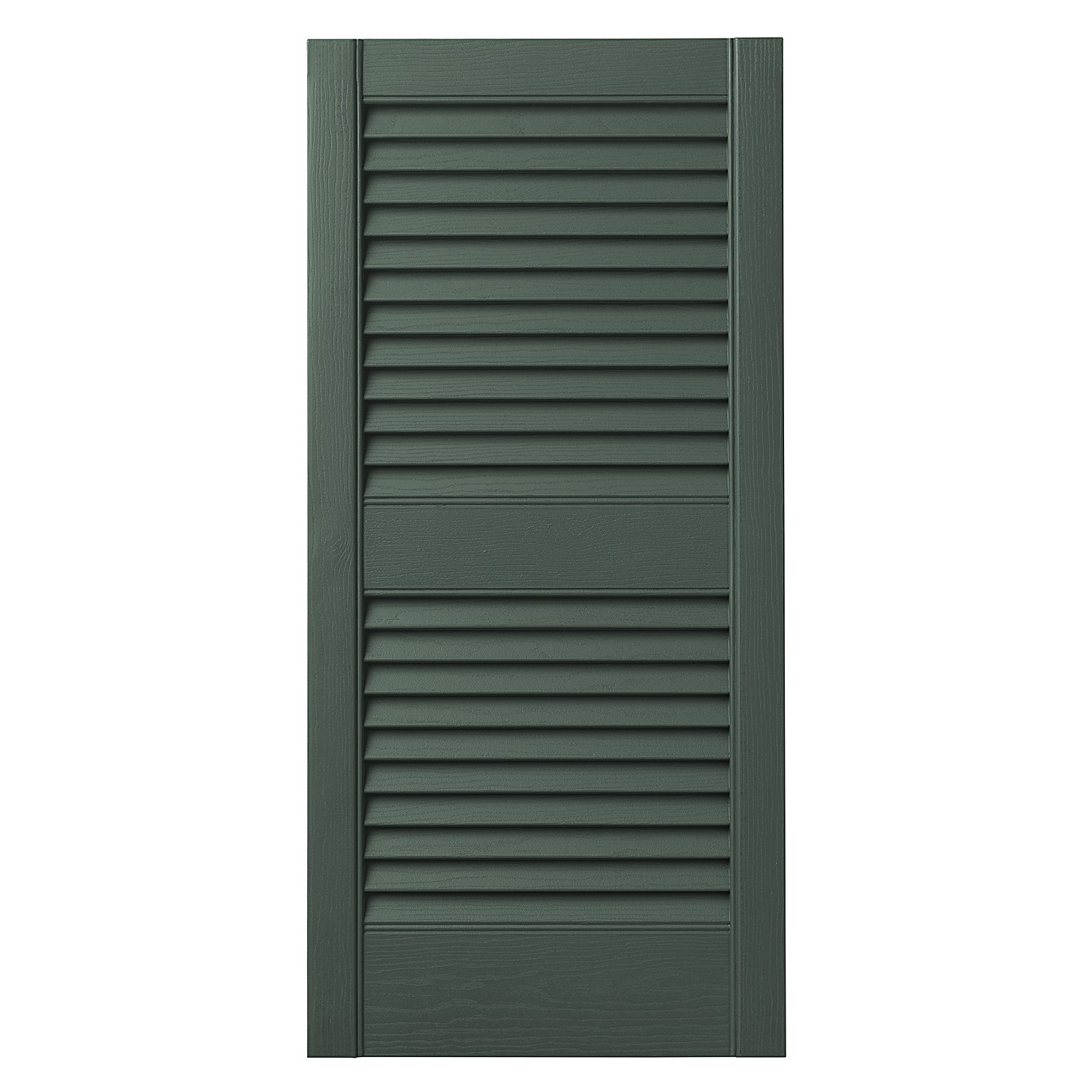 Ply Gem Shutters and Accents VINLV1525 55 Louvered