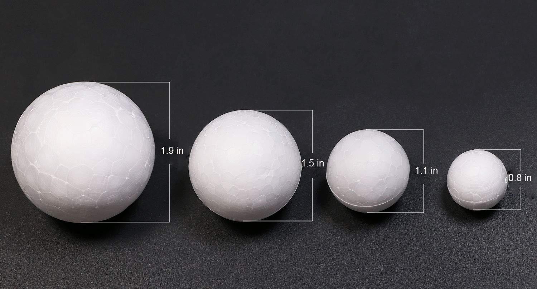 4 Sizes Penta Angel 50Pcs Styrofoam Balls White Craft Foam Balls Smooth Round Art Balls for Christmas Ornaments Household School DIY Crafting and Decoration