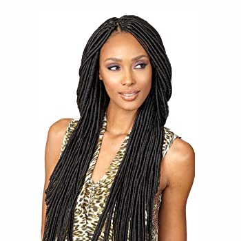 "SENEGAL FAUX LOCS DREAD 20"" (1B Off Black) - Bobbi Boss Synthetic Crochet Interlocking Braid"