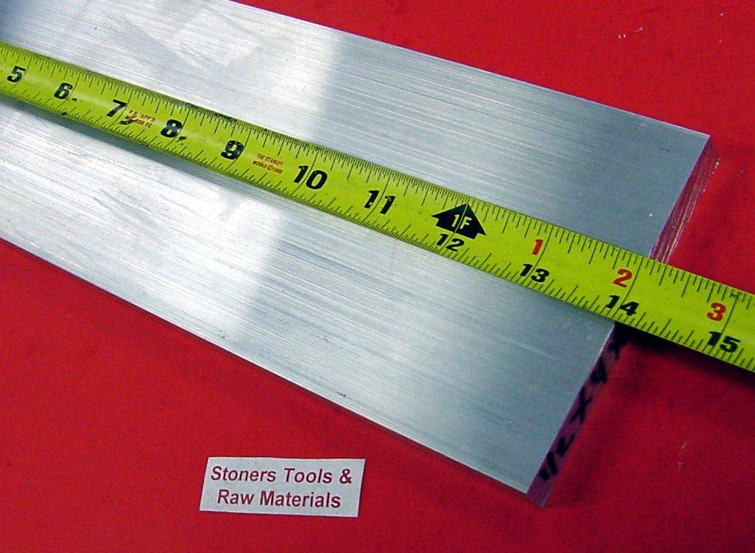 "2 Pieces 1//2/"" X 4/"" ALUMINUM 6061 T6511 FLAT BAR 13/"" long Plate Mill Stock .50/"""