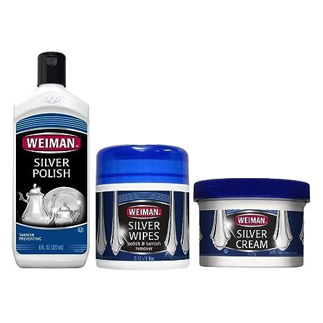 Amazon.com: WEIMAN Plata polaco, toallitas húmedas y crema ...