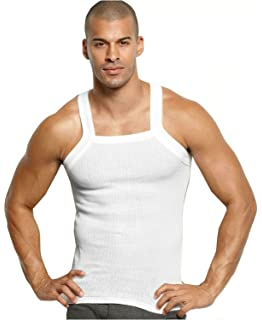 4c591284fdeba4 Different Touch Men s G-unit Style Tank Tops Square Cut Muscle Rib A ...