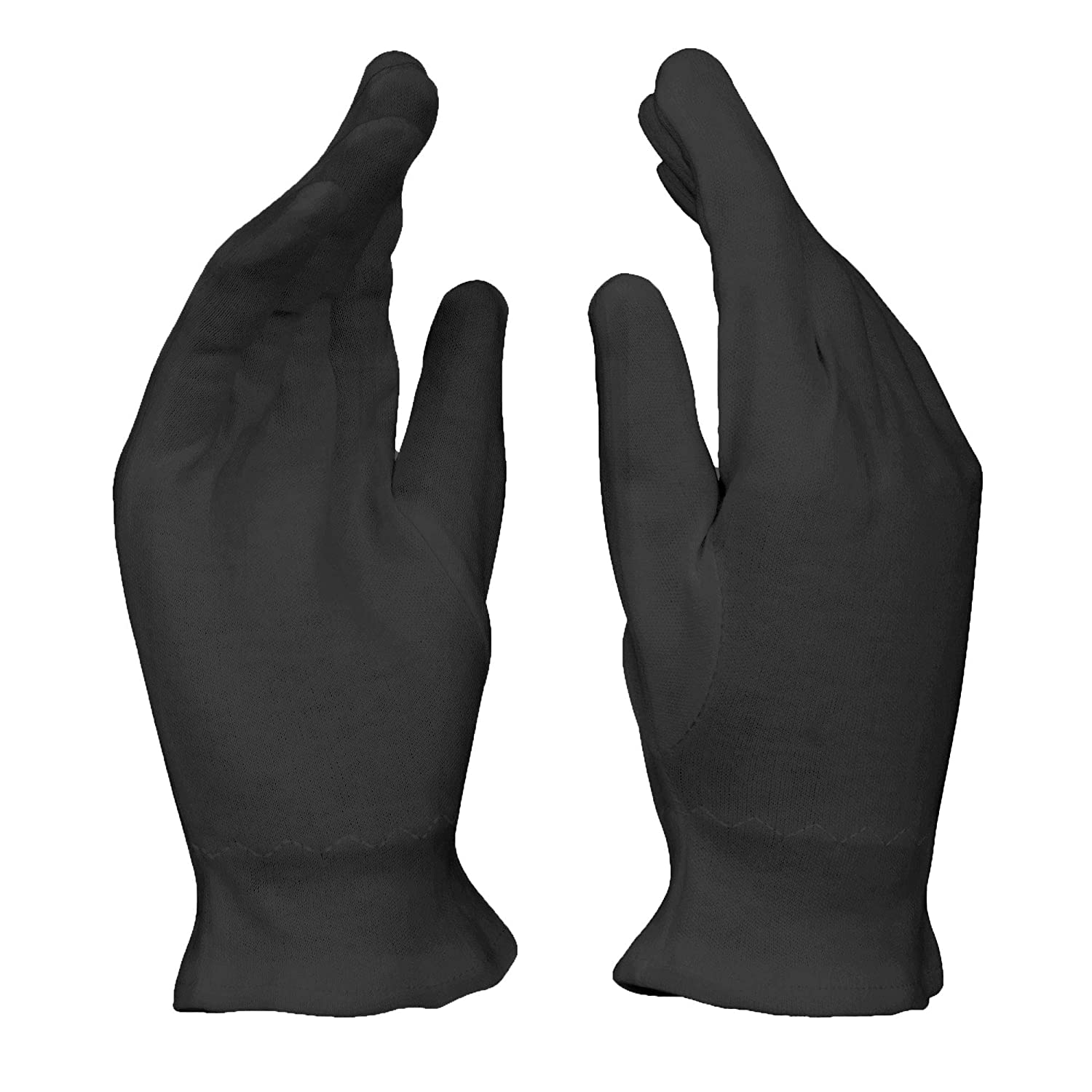 Large Black Cotton Gloves