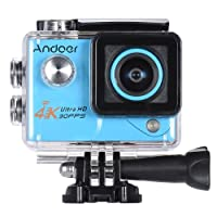 Action cam Andoer Act cam 4k action camera Wifi 1080 HD sport camera 16MP impermeabile (Blue)