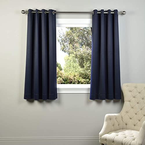 HPD Half Price Drapes BOCH-193810-63-GR Grommet Blackout Room Darkening Curtain 1 Panel , 50 X 63, Navy Blue