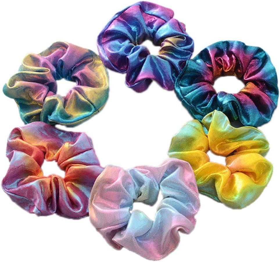 Lankater Scrunchies Pelo Sirena Cola de Caballo Titular de 6 Piezas de Colores de Pelo Accesorios para el Cabello elástico Scrunchy para la Mujer (Color al Azar): Amazon.es: Hogar
