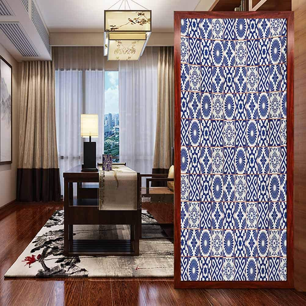 Amazon Com Window Sticker Glass Sticker Living Room Decoration Moroccan Old Ottoman Style Inspired Mix Of Moroccan Til Home Window Tint Film Heat Control W23 6 X H78 7 Inch Home Kitchen