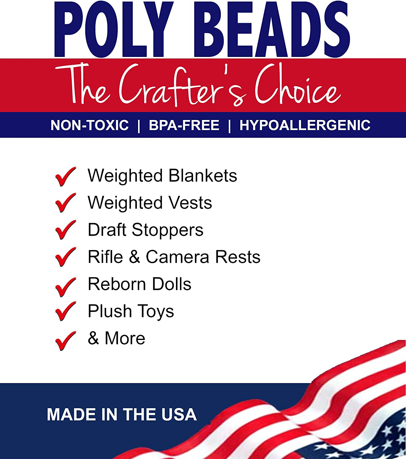 Poly Beads for Weighted Blankets