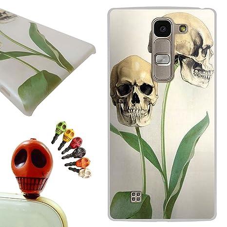 LG G4C funda - Gallery88 LG G4C Carcasa, (Las hojas crecen cráneo) Protectora de Plastica de Duro PC Funda Tapa Case Cover para LG G4C (G4 Mini/H525N) ...