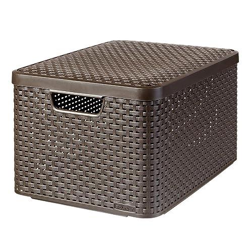 CURVER Style L - storage boxes & baskets (Storage basket, Brown, Rattan, Monotone, Bathroom, Bedroom, Living room)