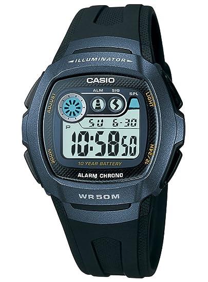 fd47b9d3cf88 Casio Reloj Digital para Hombre de Cuarzo con Correa en Resina 3.86E+11   Amazon.es  Relojes
