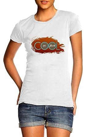 TEEBOX101 Damen T-Shirt, Gestreift Weiß Weiß Gr. S, Weiß - Weiß