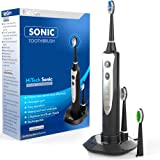 Sonic Electric Rechargeable Toothbrush, Electronic Toothbrush With 3 Brushing Modes And Built-in Timer, Power Toothbrush With 3 DuPont Replacement Heads, Travel Toothbrush With Inductive Charging