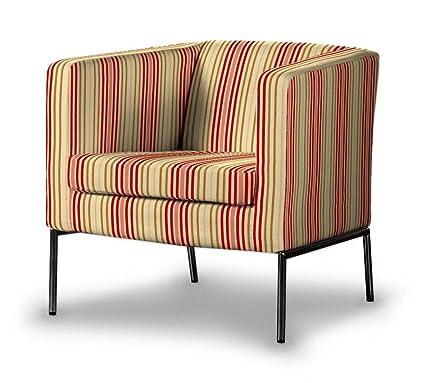 Dekoria Fire retarding IKEA KLAPPSTA sillón funda - rojo y ...
