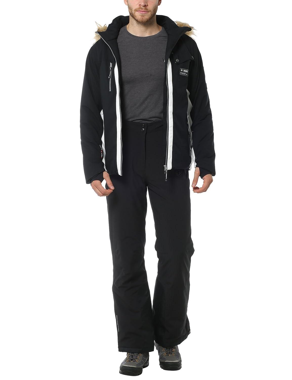 Ultrasport Herren Skijacke Snowfox mit Fellkapuze Softshell Winterjacke winddicht /& atmungsaktiv Schwarz Jacke Blau o Snowboardjacke Ultraflow 8.000