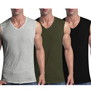 Bibigaga Men Thermal Tank Top Fleece Lined Underwear Warmth Vest