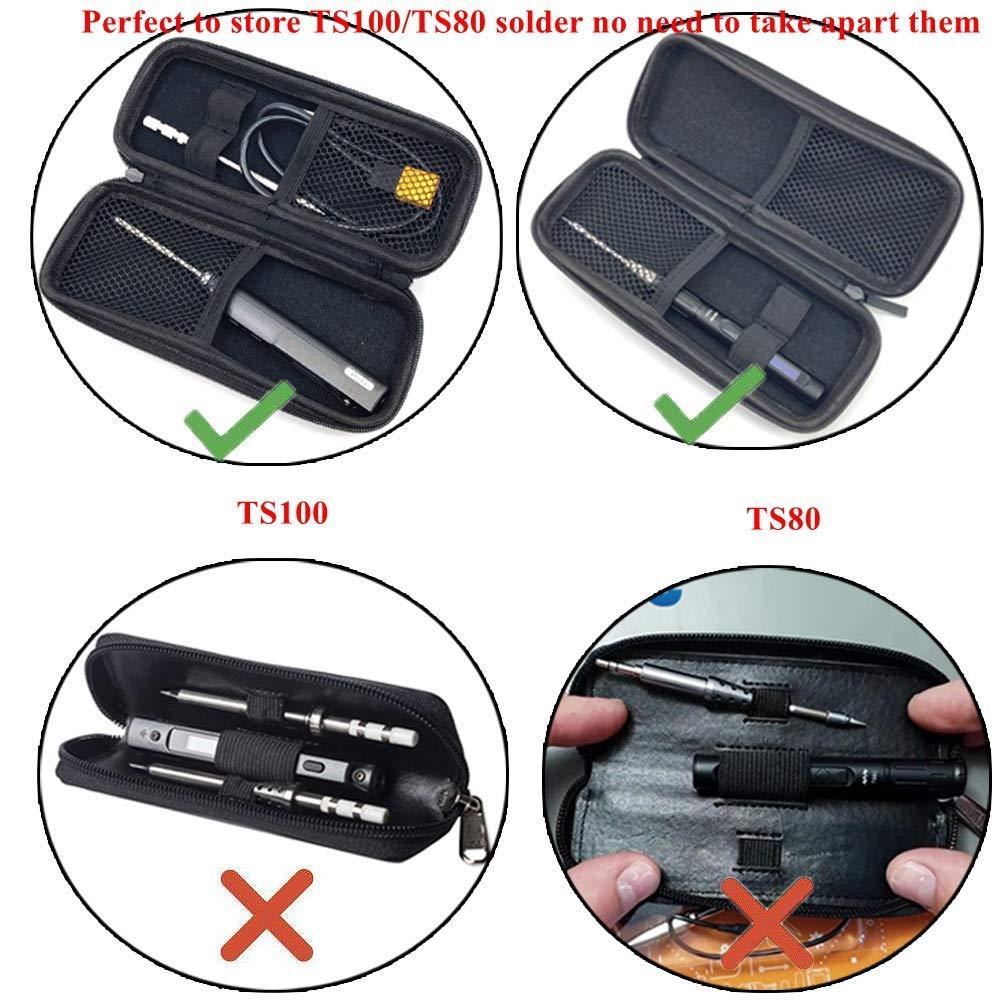 multi Portatil con cremallera bolsa de herramientas prop/ósito bolsa tote bags organizador herramienta pesada bolsa portaherramientas para ts100 TS80 soldador es120 es121 destornillador electrico