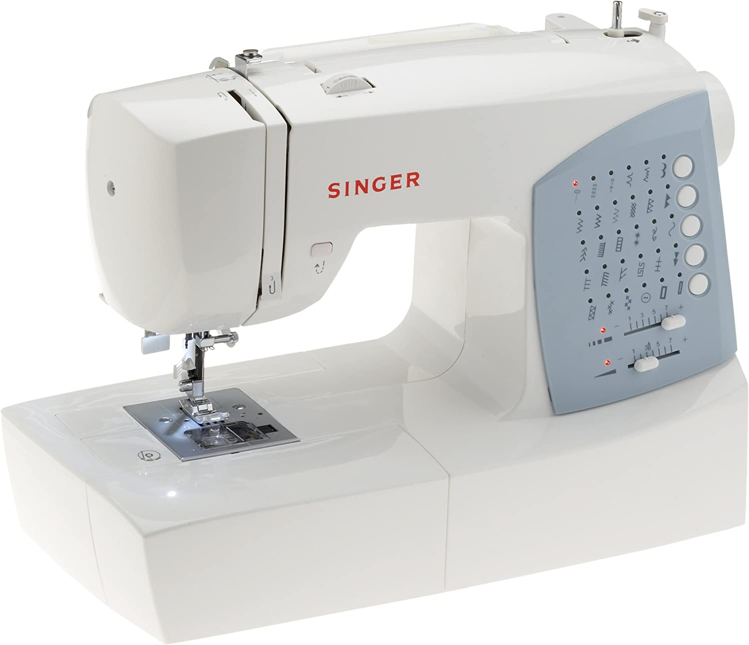 Singer 7422 - Máquina de Coser (Azul, Blanco, Costura, Variable ...