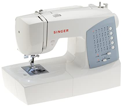 Singer 7422 - Máquina de coser (Azul, Blanco, Costura, Variable, Botones, Variable): Amazon.es: Hogar