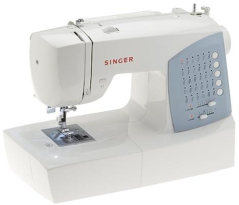 Singer 7422 - Máquina de coser (Azul, Blanco, Costura, Variable, Botones