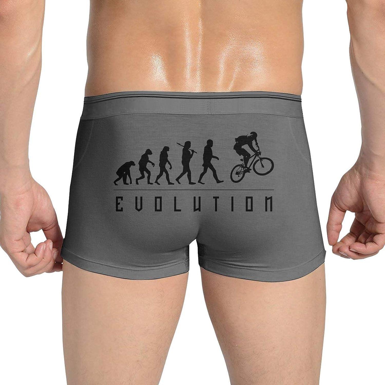 L,White Mens Underwear Boxers Briefs Stretch Biking Evolution Convex U Bag Light Weight Casual Breathable Soft