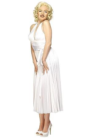 SmiffyS 30355 Disfraz De Marilyn Monroe Con Vestido Sin Espalda, Blanco, Tamaño Único