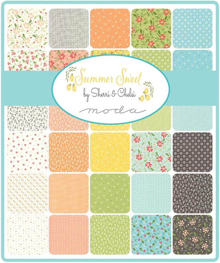 Summer Sweet Mini Charm Pack by Sherri /& Chelsi; 42-2.5 Inch Precut Fabric Quilt Squares