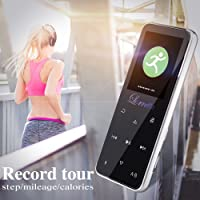 """[New Version] MP3 Player with Bluetooth, Lorretta MP3 Player Music Player With Bluetooth Compatible HIFI, Digital Audio Player Alloy with FM Radio / 8GB Metallic MP3 Supports up to 128GB Extension / Voice Recorder / 1.8"""" Color TFT Screen / Portable Player with Speaker / Audio Player"""