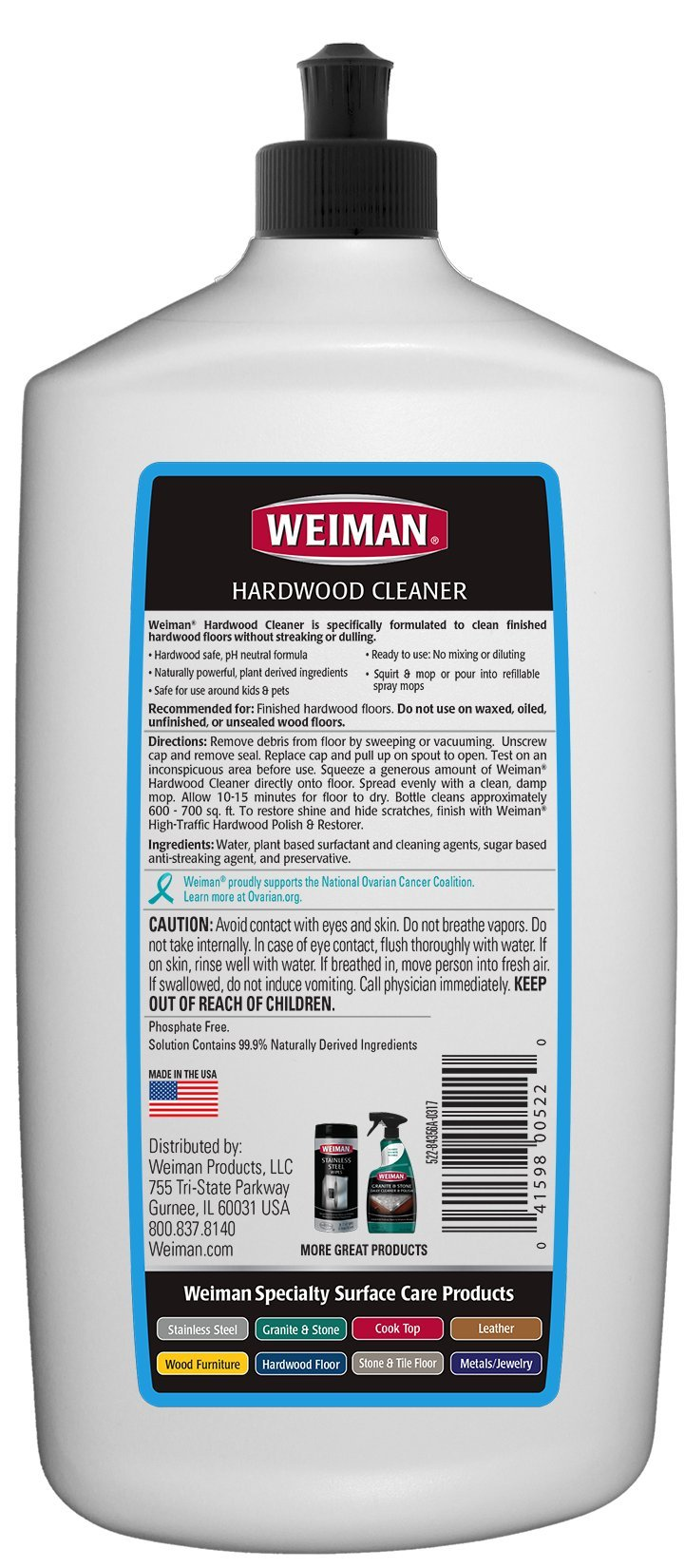 Weiman Wood Floor Cleaner [2 Pack] 32 Ounce - Hardwood Finished Oak Maple Cherry Birch Engineered and More - Professional Safe Steak-less by Weiman (Image #2)