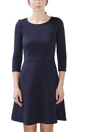 b439fc5e4d09 ESPRIT Damen Kleid 027EE1E011, Blau (Navy 400), 38 (Herstellergröße ...