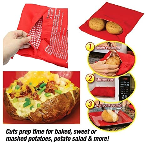 Amazon.com: Fiesta - Bolsa de cocina de patata roja ...