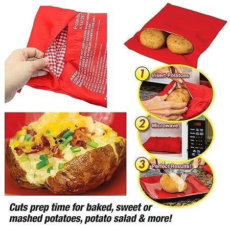Fiesta Red - Bolsa de cocina reutilizable para patatas ...