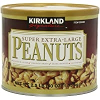 Kirkland Signature Super XL VA Peanuts, 40 Ounce, Light Brown, 2 Pack
