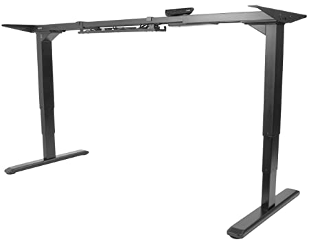 VIVO Electric Stand Up Desk Frame w Dual Motor and Cable Management Rack, Ergonomic Height Adjustable Standing DIY Workstation DESK-V103E